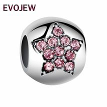 Heart Charm Silver Crystal Beads Pandora Love Mom Authentic Tibetan DIY Jewelry image 5