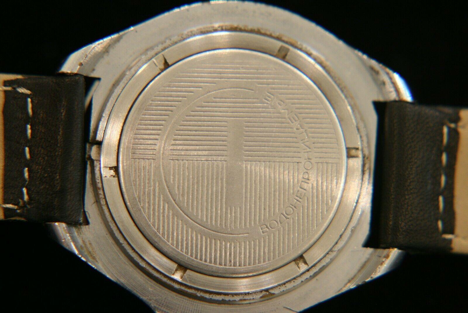 Rare vintage Soviet Vostok Tank Commander 17 jewel military steel wristwatch