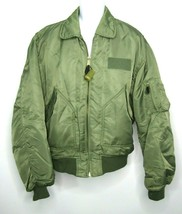 Vintage CWU-45P Military Flight Jacket Bomber Air Force Size XL Green - $74.44