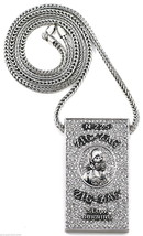 Iced Out New Metal Papers Pendant & 36 Inch Necklace - $39.75