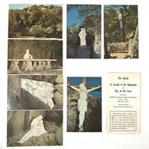 The Shrine of St. Joseph of the Mountains Way Of The Cross Vintage Postc... - $18.50