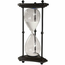 "1 Hr. Hourglass Sand Timer In Stand White 16.5"" - 36882-WHIT - $58.40"