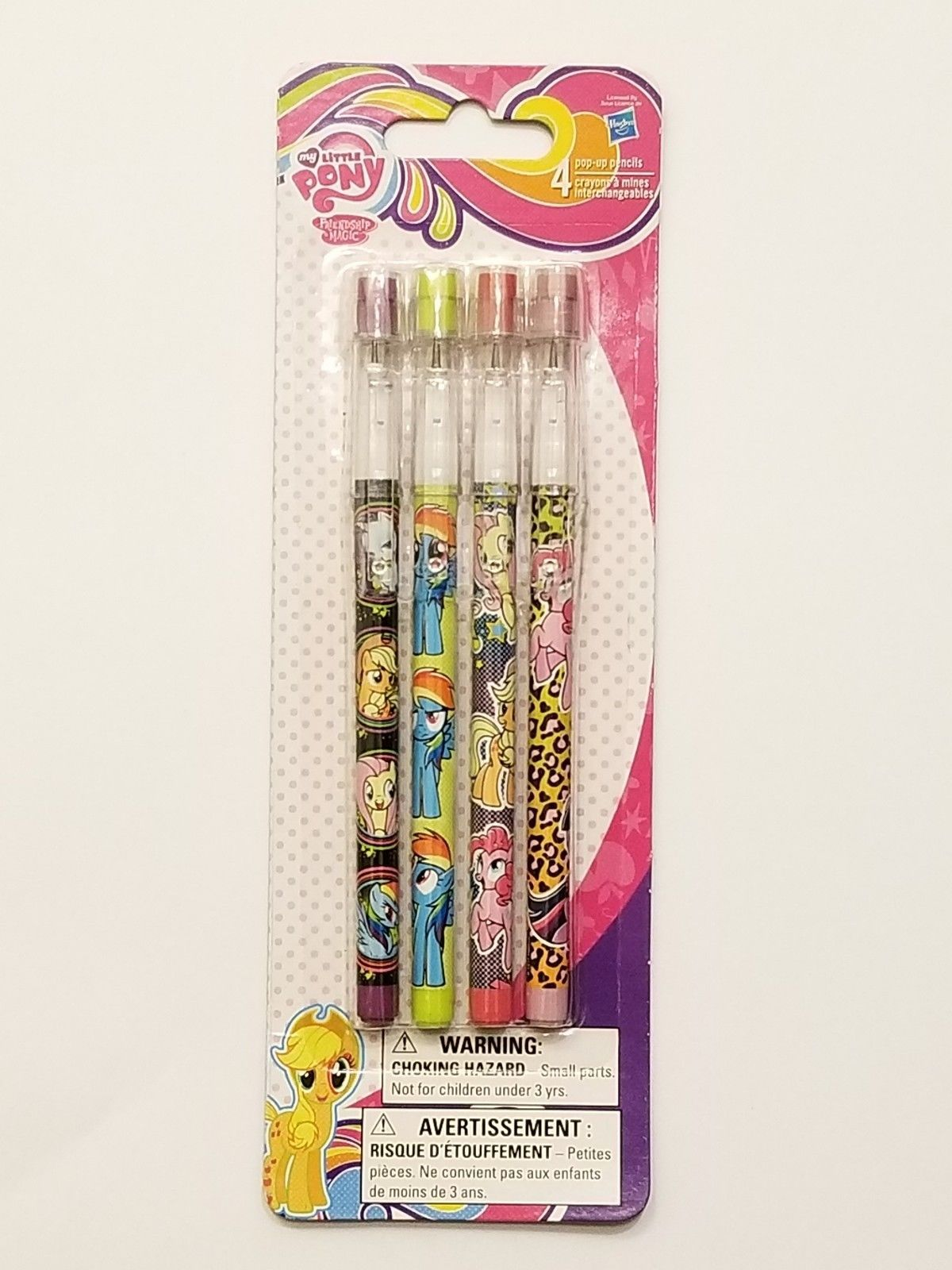 My Little Pony Friendship is Magic Set of 4 Pop-Up Pencils