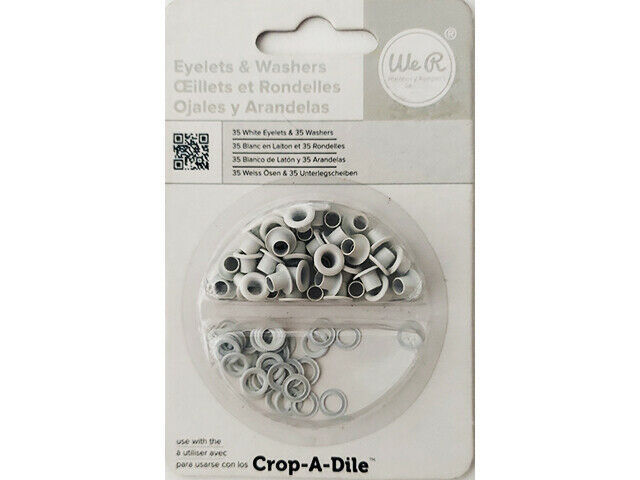 We R Memory Keepers Eyelets & Washers, White #42220-4