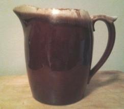 Brown Drip Glaze Pitcher Ceramic with Ice Lip  USA model 7011 - $29.99