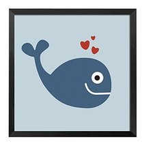 [Whale]Decorative Painting Framed Painting Wall Decor Kids' Room Hanging... - $616,76 MXN