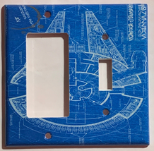 Star Wars Millennium Falcon Blueprint Switch Outlet wall Cover Plate Home Decor image 7