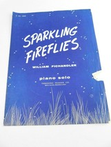 1954 Sparkling Fireflies Sheet Music William Fichandler Piano Solo - $13.85