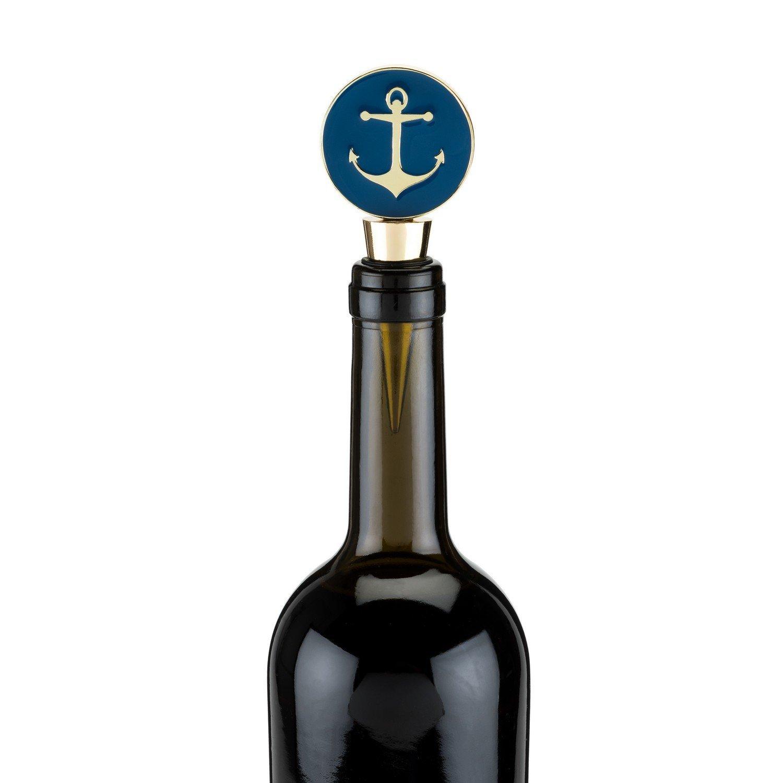 bottle wine stopper, Anchor decorative novelty reusable bottle stopper pourer