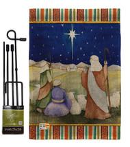Christmas in Bethlehem Burlap - Impressions Decorative Metal Garden Pole... - $33.97