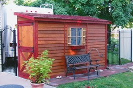 She Shed 8 x 4 ft Red Cedar Woman Cave Includes Window + Door + Pre-Buil... - $3,295.20
