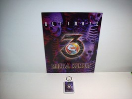MIDWAY ULTIMATE MORTAL KOMBAT 3 VIDEO ARCADE GAME FLYER + PLASTIC KEY CHAIN - $20.48