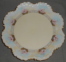 "Early 1900s HAND PAINTED Rosenthal 10"" SCALLOPED PLATE - Selb Bavaria VE... - $49.49"
