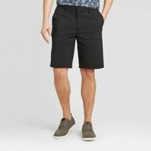 "Men's 10.5"" Tech Chino Shorts - Goodfellow & Co -Black Color  Various Sizes NEW-"