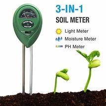 Strailboard Soil pH Meter, Soil Moisture Meter 3-in-1 Moisture,Light and PH - £9.70 GBP