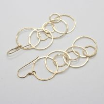DROP EARRINGS 925 SILVER LAMINA GOLD AND CIRCLES BY MARY JANE IELPO image 4