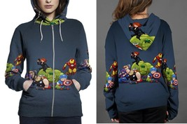 Hoodie Zipper womens The Avenger Chibby - $46.70+