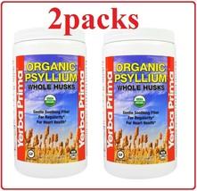 2 packs Yerba Prima Organic Psyllium Whole Husks 12 oz - $27.95
