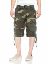 Men's Tactical Combat Military Army Cotton Twill Camo Cargo Shorts With Belt image 9