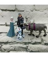 Disney Frozen Figures Lot Elsa Kristoff Sven Olaf - $15.84