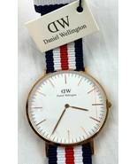 NWT Daniel Wellington DW Classic Canterbury 40mm Nylon Strap Watch Gold ... - $79.99
