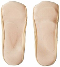 HUE Women's Cream Classic Open Toe Liner with Cushioned Sole M/L 7-10 79276 NEW image 2