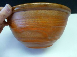 LG RARE Pacific Pottery #12 Mixing Bowl Molted Burnt Orange RingWare Cal... - $124.00