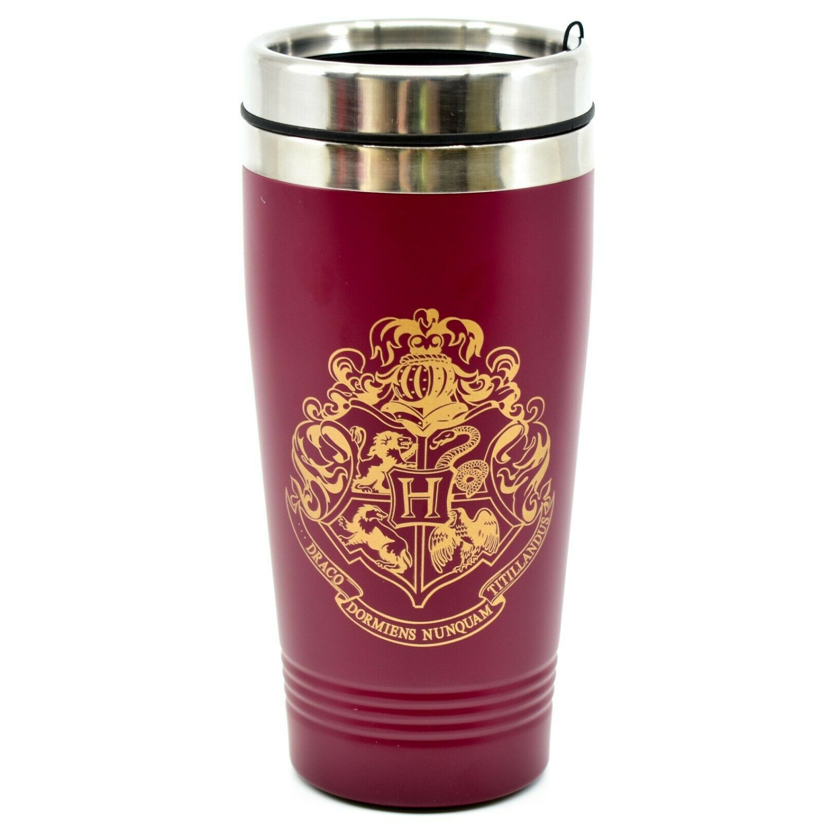 Harry Potter Hogwarts Shield Crest Maroon and Gold 15 oz Travel Coffee Mug