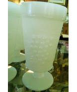 Milk Glass Footed Water Glass Harvest Grape Pattern Milk Glass - $3.50