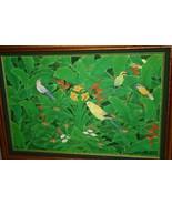 Huge Hand painted Framed Original Canvas Signed Art Alameda Parrots Bird... - $664.99