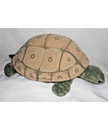 Folkmanis Folktails Hand Puppet Turtle Tortoise Green Tan Plush Stuffed ... - $14.81