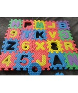 FOAM LETTER NUMBER PUZZLE LOT USED SMALL - $6.00