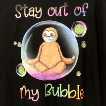 Stay Out Of My Bubble Sloth Yoga T-Shirt Mens Black 3XL - $18.32