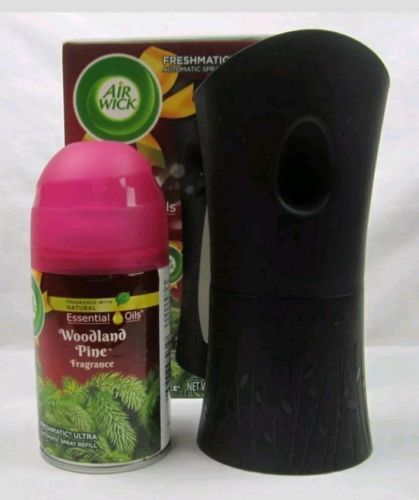 Air Wick Freshmatic Ultra Automatic Spray Essential Oils Woodland Pine Fragrance