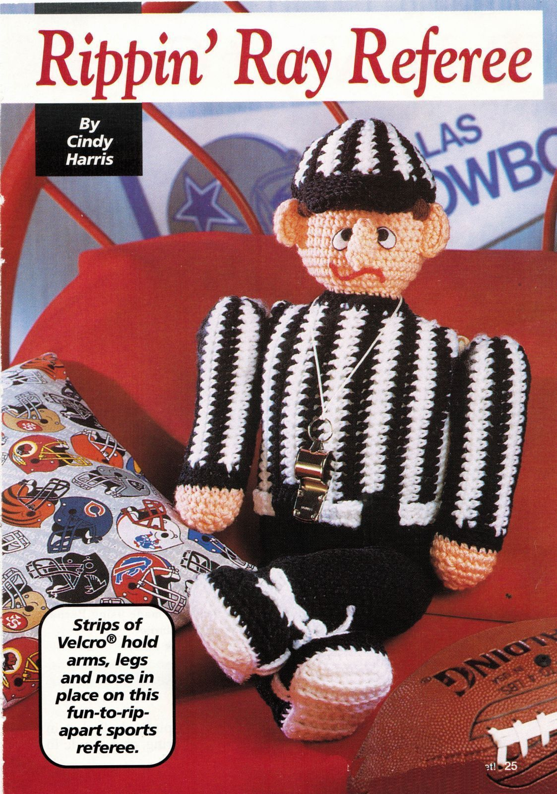 Primary image for Rip Apart Rippin' Ray Sports Referee Baby Night Cap Frame Bazaar Crochet Pattern
