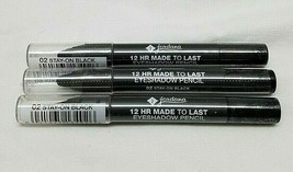 Jordana 12 Hr Made To Last Eyeshadow Pencil 02 Stay On Black Lot Of 3 - $9.89