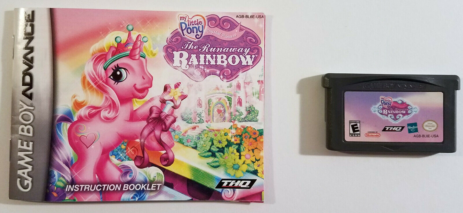 My Little Pony Runaway Rainbow Game Boy Advance Cartridge and Booklet Only