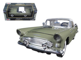 1956 Ford Thunderbird Soft Top Green 1/24 Diecast Car Model by Motormax - $36.95