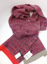 Cash Ca England Merino+Cashmere Charcoal Watermelon Scarf MSRP $250.00 - $98.99