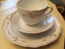 Hutschenreuther china cup, saucer and salad/dessert plate - $30.00
