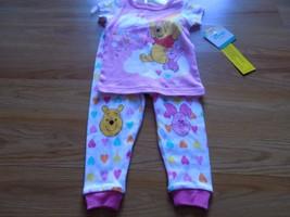 Size 9 Months Disney Winnie the Pooh Bear Piglet Pajamas Set Shirt Top P... - $12.00