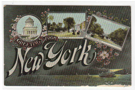 Greetings from New York City 1910c postcard - $6.50