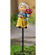 "Set of 2 Adorable School Teacher w Apple Gnome Plant Garden Pic -  17.9""... - $29.69"