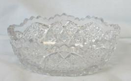 Imperial Hobstar Pressed Glass Souvenir Bowl Syman Jewelry Co Tacoma Wash - $25.63