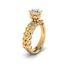 Diamond Leaf Vine Ring Anniversary Gift For Her Leaf Vine Promise Ring For Women - $869.99