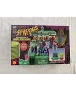 1996  SPIDER-MAN Animated Sky Scraper Stunt Set OSCORP SPIDEY GLIDER Min... - $42.75