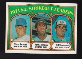 Bill Stoneman Autographed Card 1972 Topps Strikeout Leaders Montreal Expos - $4.98