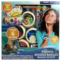 Disney's Moana Wooden Bangles Bracelet Activity Set  new sealed some box damage - $18.39