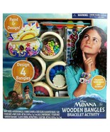 Disney's Moana Wooden Bangles Bracelet Activity Set  new sealed some box... - $18.39
