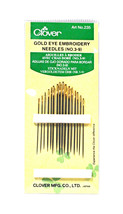 Clover Embroidery Needles Gold Eye Size 3/9 - $5.36